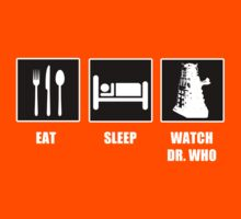 Eat Sleep Watch Doctor Who Kids Tee