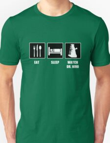 Eat Sleep Watch Doctor Who T-Shirt