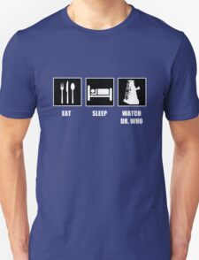 Eat Sleep Watch Doctor Who T-Shirt