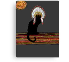 little Indian chief kitty cat  Canvas Print