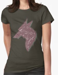 wolf bust 1 Womens Fitted T-Shirt