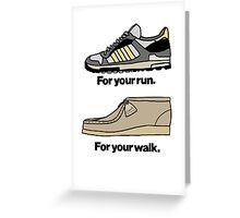 FOOTWEAR.... Greeting Card