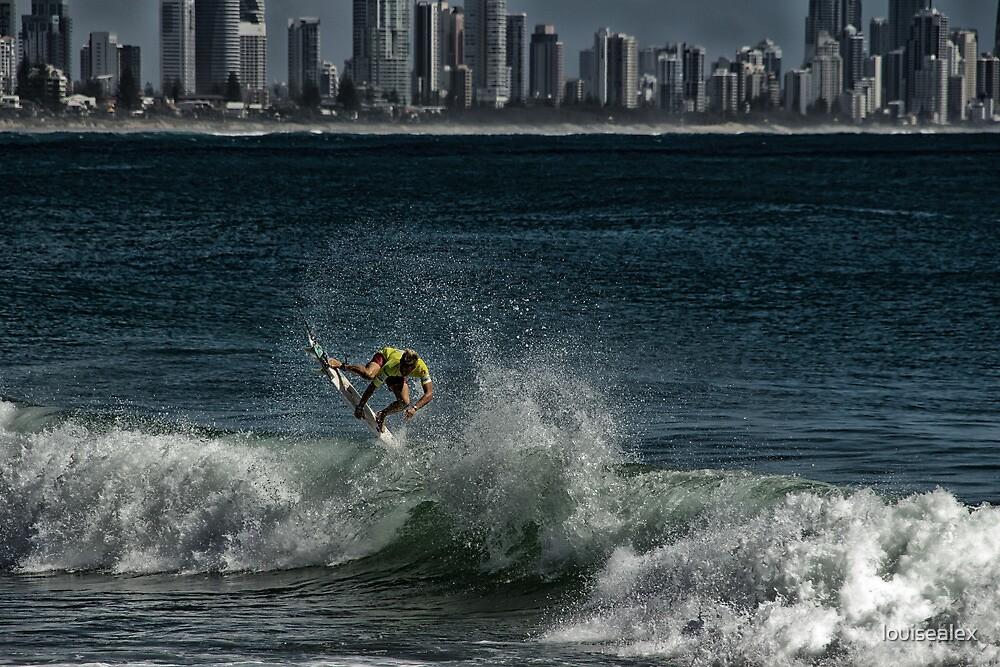 Surfer in the surfer skyline by louisealex