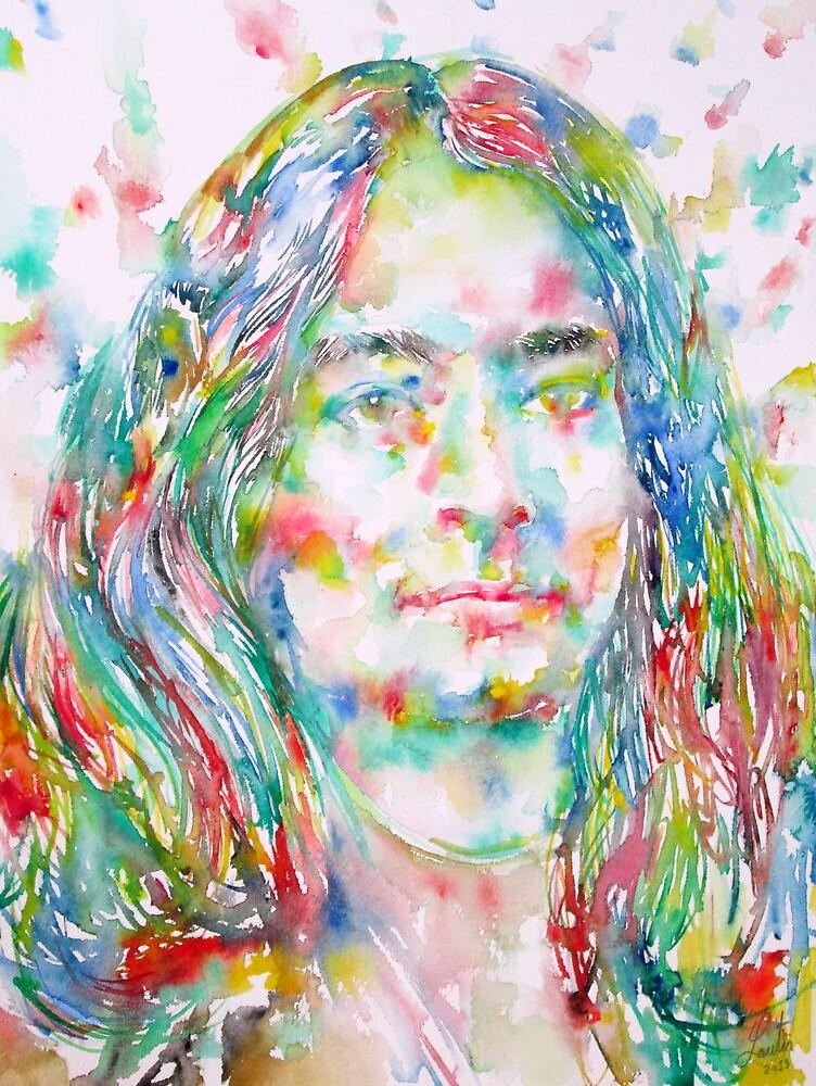 YOGANANDA - watercolor portrait by lautir