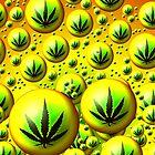 Rasta Cannabis Leaf Design  by Sookiesooker