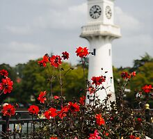 Roath Park Lighthouse Cardiff Wales by mlphoto