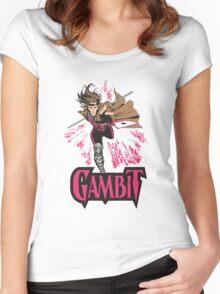 Gambit Superheroes T-Shirt Women's Fitted Scoop T-Shirt