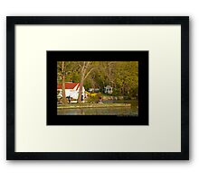 The Grist Mill Pond In The Evening - Stony Brook, New York  Framed Print