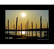 Afternoon Sun Above Porpoise Channel - Stony Brook, New York  Photographic Print