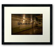 Subway - Speaking Volumes Framed Print