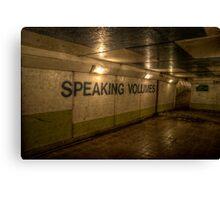 Subway - Speaking Volumes Canvas Print