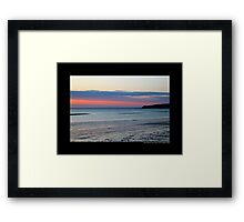 Pink Evening At West Meadow Beach - Stony Brook, New York  Framed Print