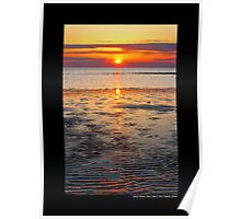 West Meadow Beach Colorful Sunset - Stony Brook, New York  Poster