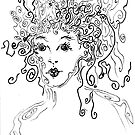 Curly Girl, an Art card by Regina Valluzzi