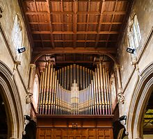 St Lawrence Church Organ Hungerford England by mlphoto