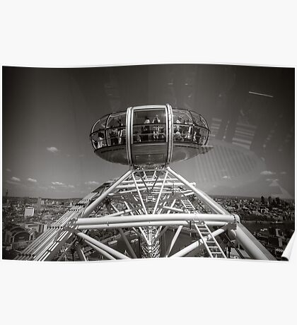 London Eye England Poster