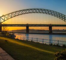 Silver Jubilee Bridge at Sunset. by MrXile