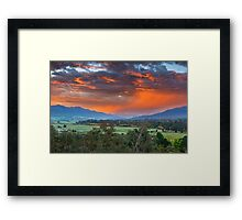 The Valley Red Framed Print