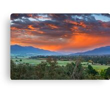 The Valley Red Canvas Print