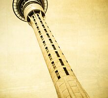 Auckland Sky Tower New Zealand by mlphoto