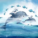 Dolphin Love by © Karin (Cassidy) Taylor