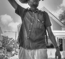 The Guy with a Plastic Bag - Downtown Nassau, The Bahamas by 242Digital