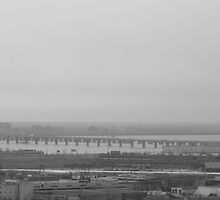 Bridge over the St. Lawrence River by MarianBendeth
