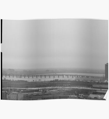 Bridge over the St. Lawrence River Poster