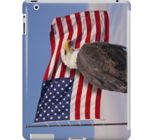 United we stand - Bald Eagle & American Flag iPad Case/Skin