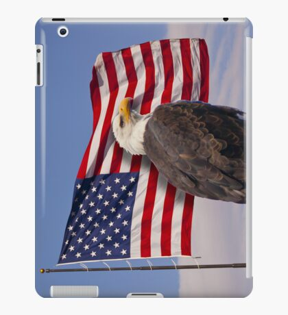 United we stand - Bald Eagle & American Flag iPad Case/Skin