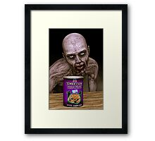Zombie Chow Framed Print