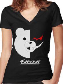 Dangan Ronpa- Monokuma shirt Women's Fitted V-Neck T-Shirt