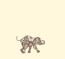 Baby Elephant Playing - good luck by mindfullymade