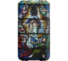 Beautiful stained glass window of Mary  Samsung Galaxy Case/Skin