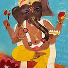 Dancing Ganesha - collage  by mindfullymade