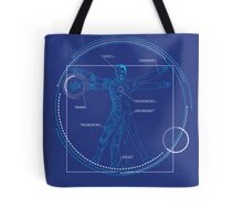 Vitruvian Playboy Tote Bag
