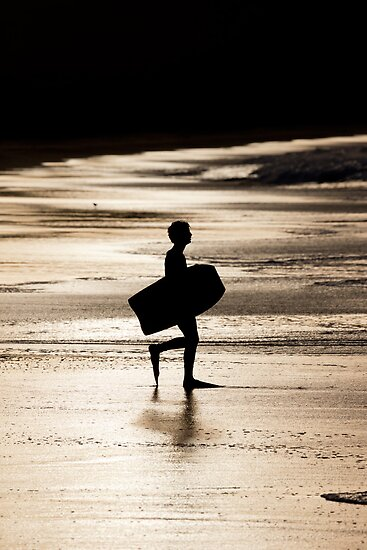 Body Boarder, Calverts Beach, Tasmania by Chris Cobern