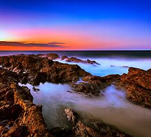 Sunset at Rainbow Bay by MikeAndrew
