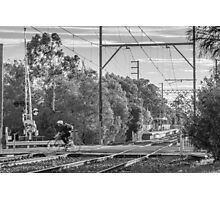 Cyclists of Melbourne Photographic Print