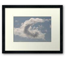 Cloud Alphabet Framed Print