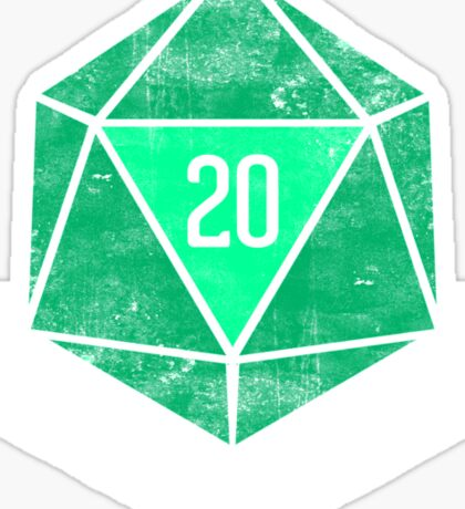 Natural 20's (GREEN) Sticker