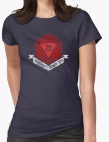 Natural 20's (RED) Womens Fitted T-Shirt