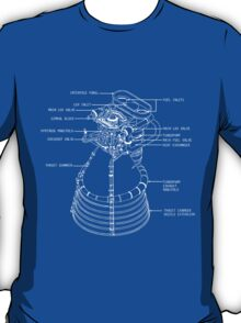Fly me to the Moon - Nasa F1 Engine Blueprint T-Shirt