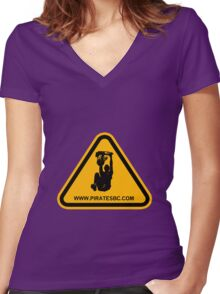 Pirates dunk Women's Fitted V-Neck T-Shirt