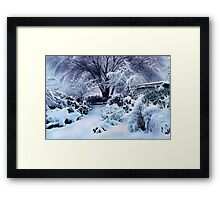 on a freshly fallen silent shroud of snow Framed Print