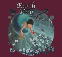 Keepsakes of the Ocean - Earth Day With Date - Clothing + Stickers by Audra Lemke