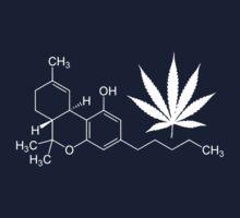 Marijuana/cannabis THC molecule shirt by flashman