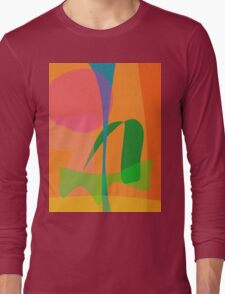 Corn Field Sundown Long Sleeve T-Shirt