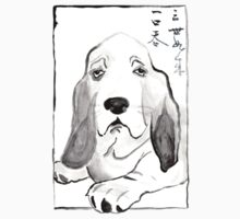 Hound in Japanese Ink Wash by bunnyghost