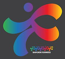 Bangkok Runners | iPad case, gray by Lin Da